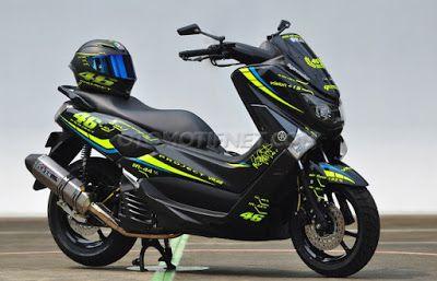 Modifikasi Motor Nmax Yamaha Mobil Keren Sepeda Motor Motor Yamaha