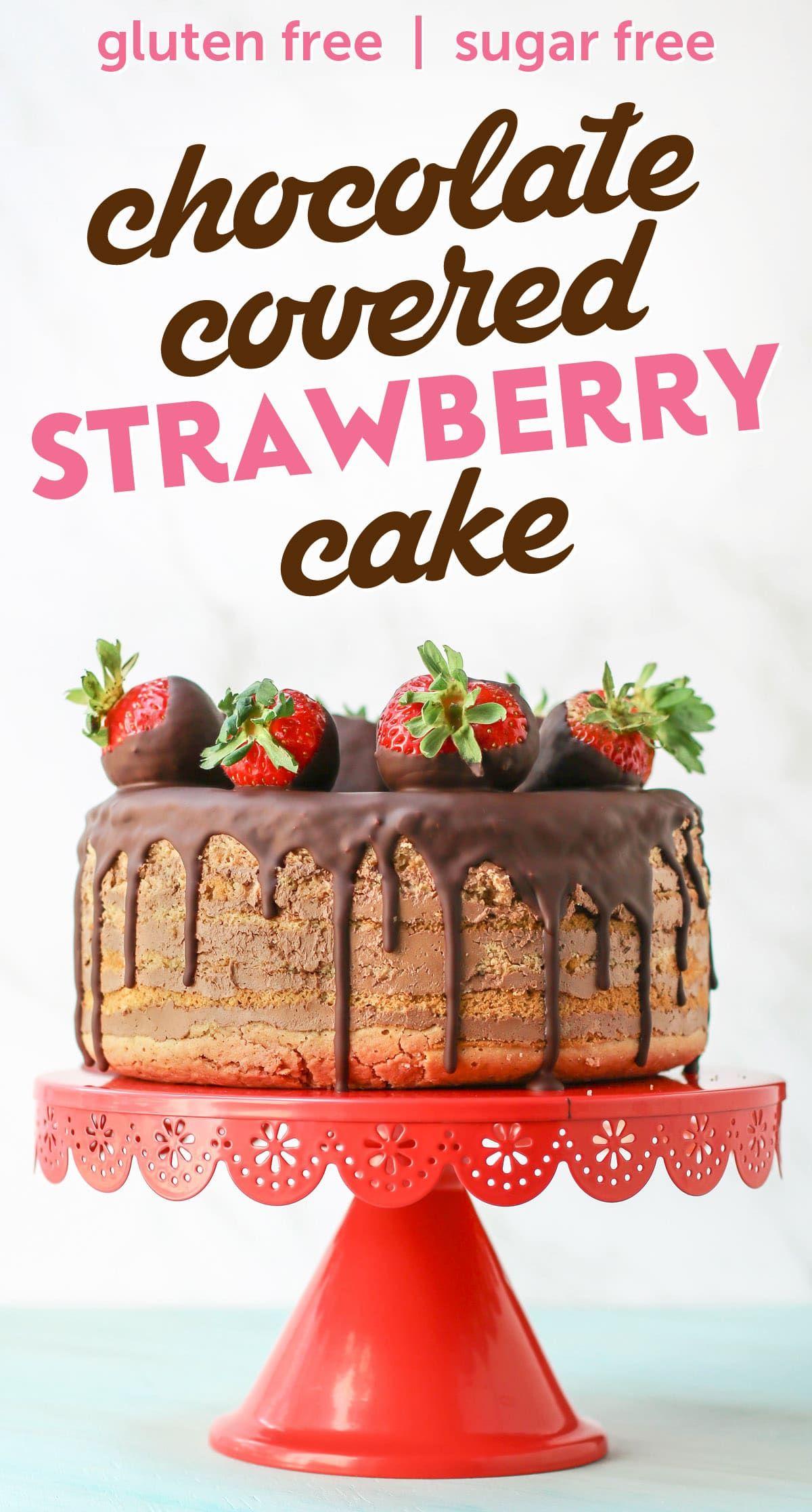 Healthy 7layer chocolatecovered strawberry cake