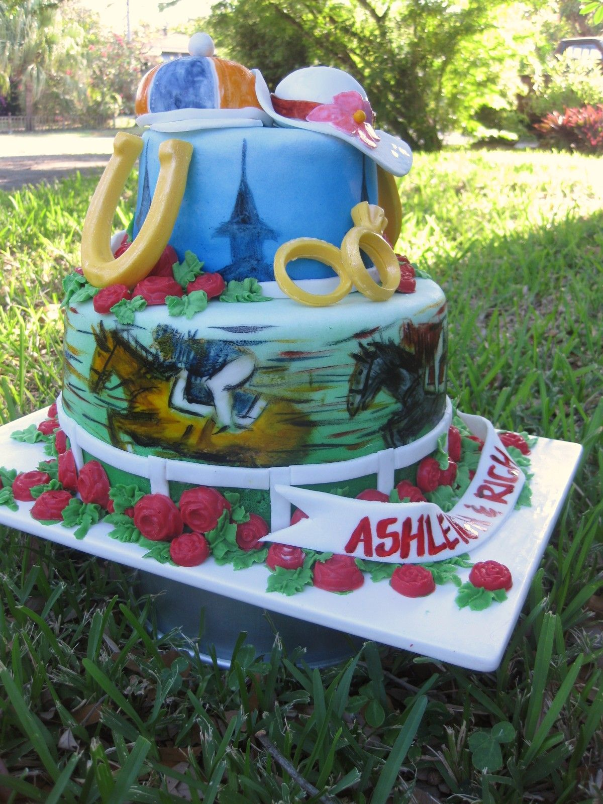 Ashleigh S Bridal Shower Kentucky Derby Cake Miami Fl Derby