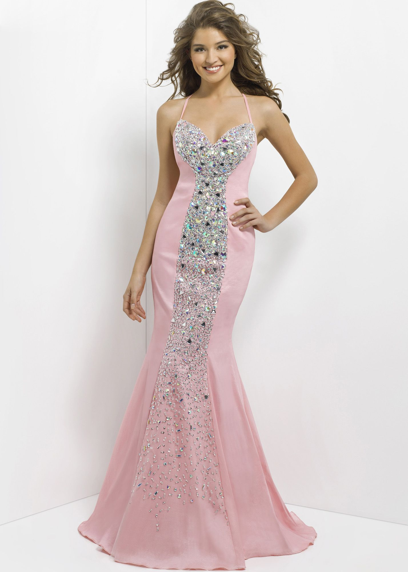 Blush prom bubblegum beaded mermaid dress rissyroos i