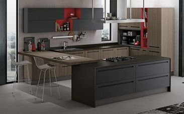Una cucina moderna con isola risolve tantissimi problemi pratici ...