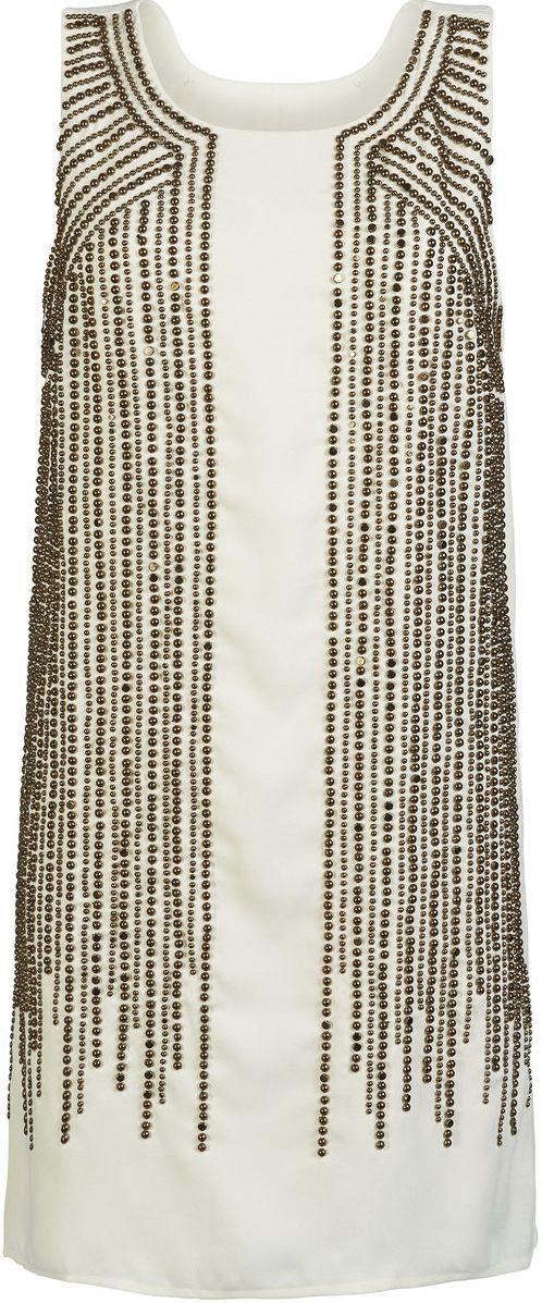 Goldenes Perlenkleid von ONLY @ ABOUT YOU http://www ...