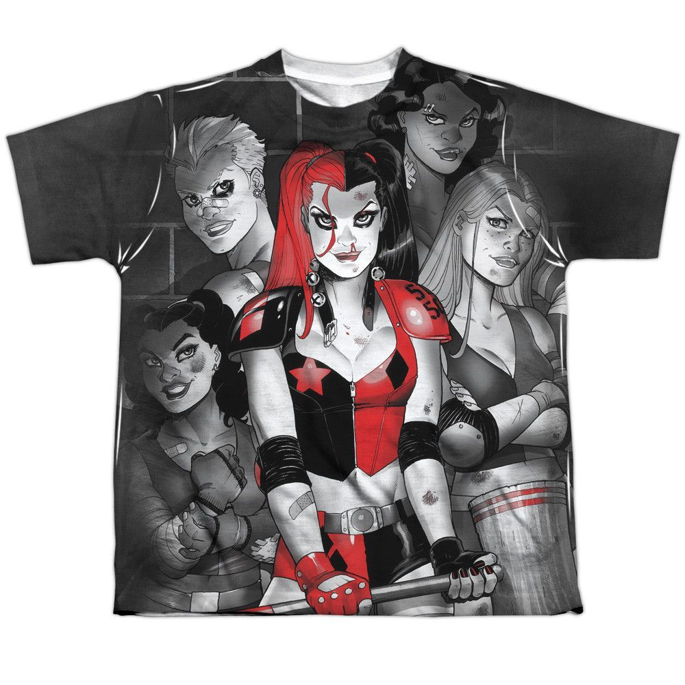 Harley Quinn Costume DC Comics Sublimation Licensed Adult T Shirt