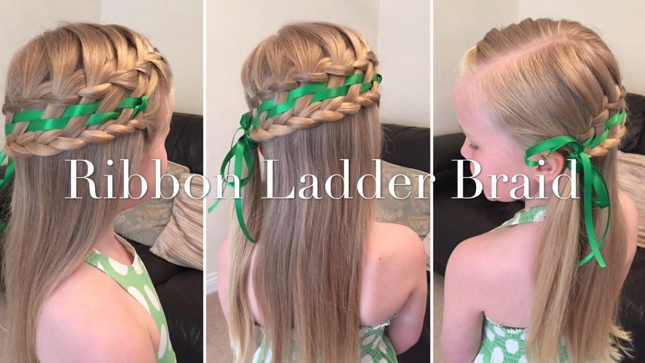 Ribbon ladder braid hair tutorial by two little girls hairstyles