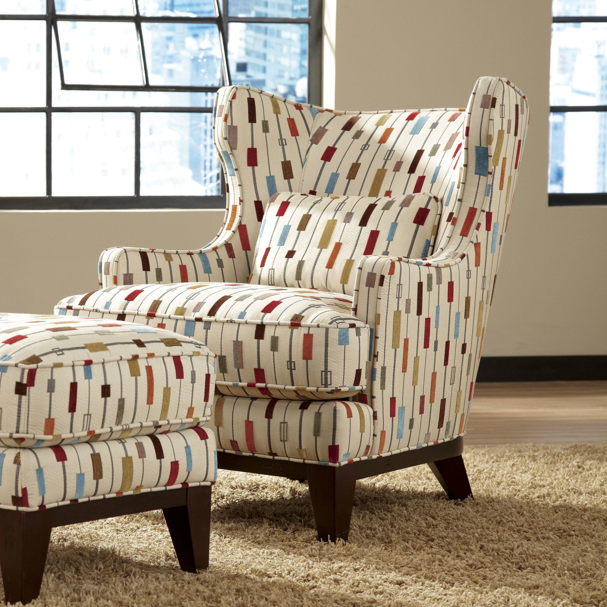 Accent Chairs. Chair And Ottoman SetWingback ...
