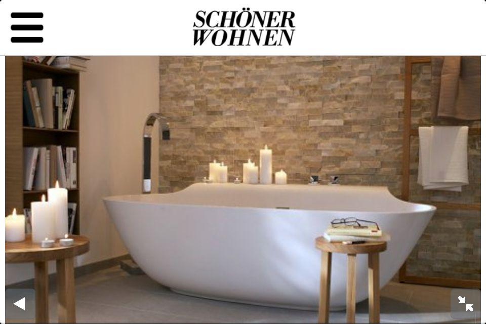 Bad mit toller Wand Badezimmer Pinterest Wand - farben fürs badezimmer