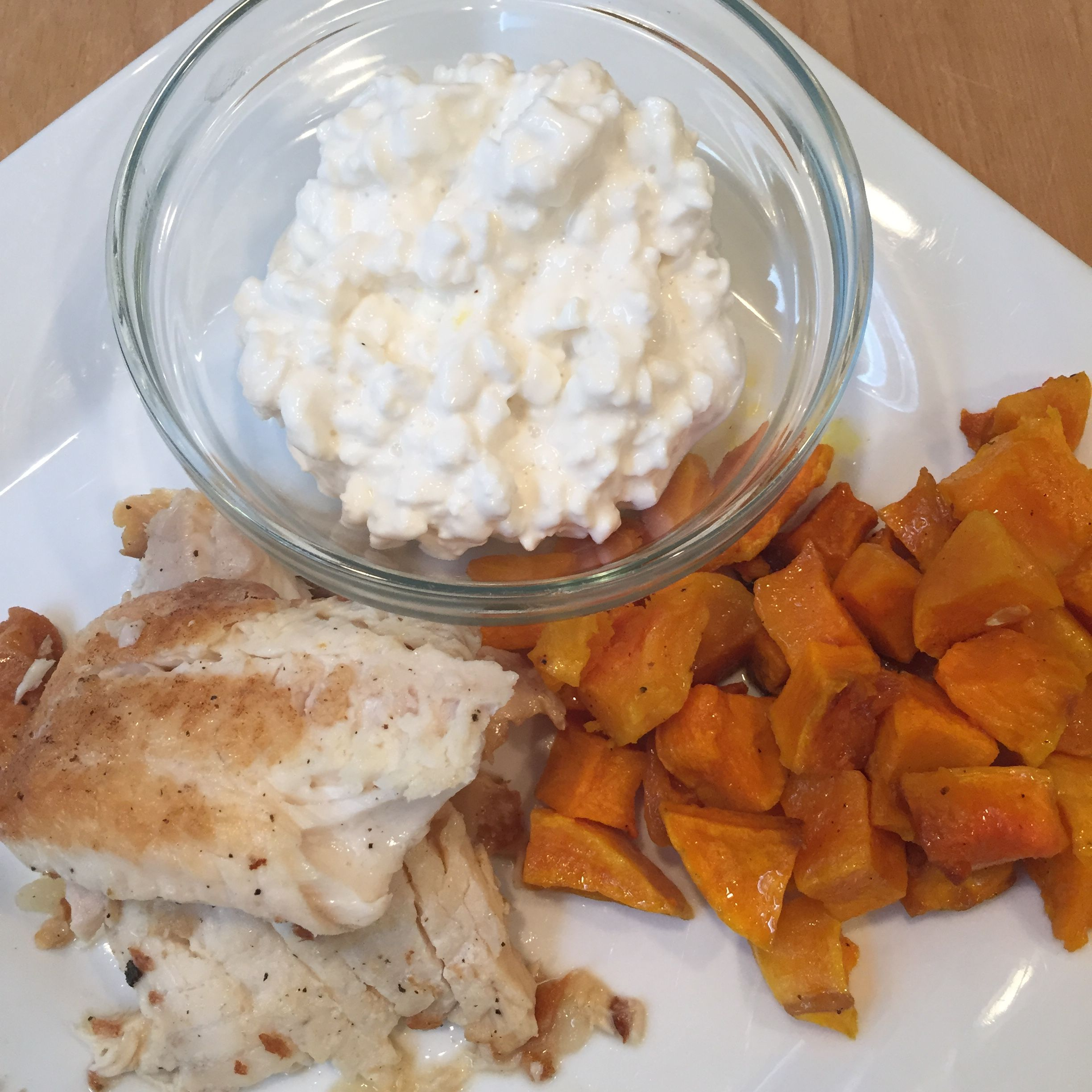 Great 382 Calorie Lunch: 1 Cup Butternut Squash, 1 Teaspoon Olive Oil, Calories,  Serving Pan Seared Tilapia With Citrus Vinaigrette, Cup Cottage Cheese