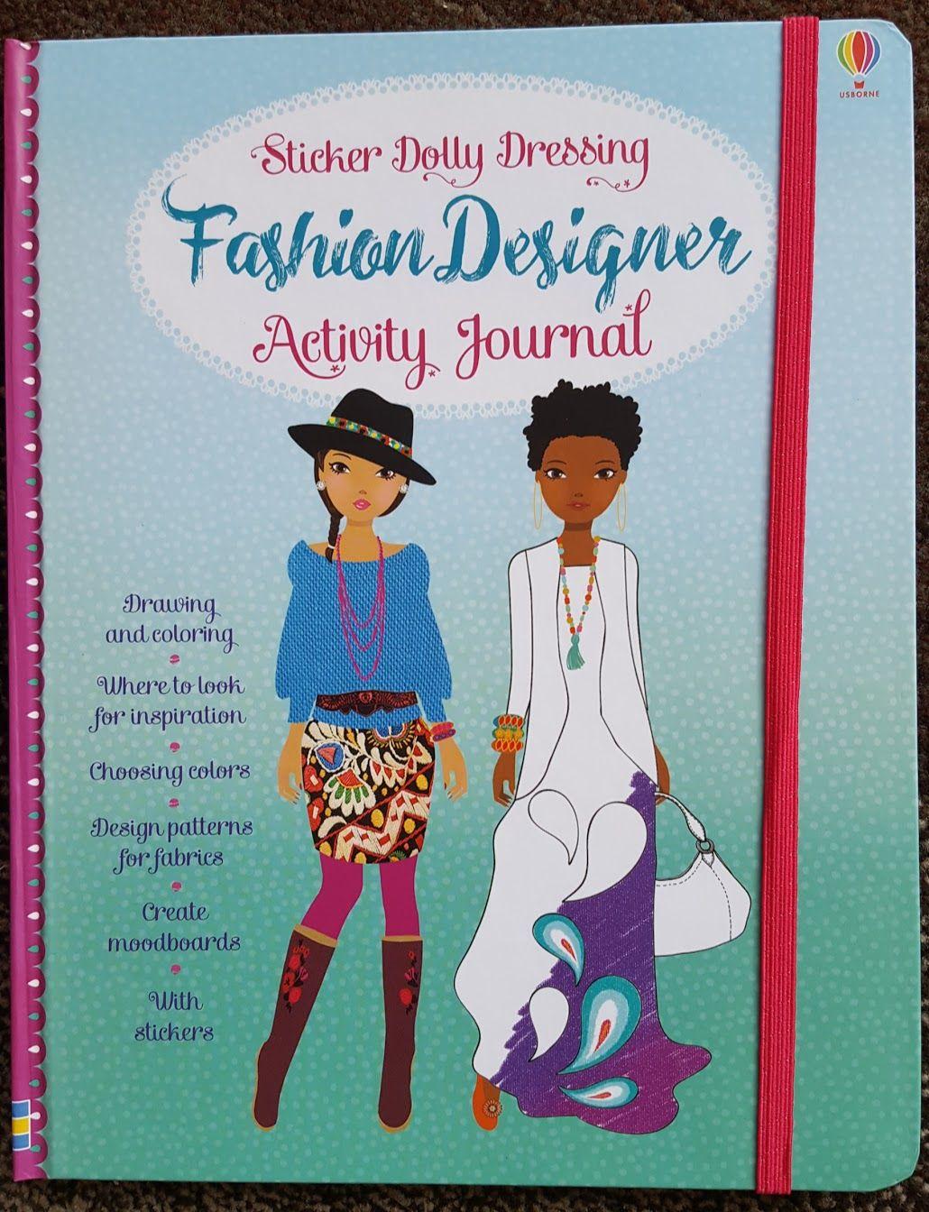 Usborne Sticker Dolly Dressing Fashion Designer Activity Journal Book Activities Fashion Design Dolly Fashion