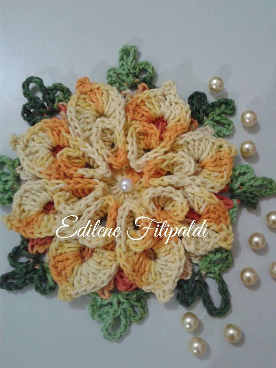 Flor Caracol Bicuda | so croche | Pinterest | Blüten, Blüten häkeln ...