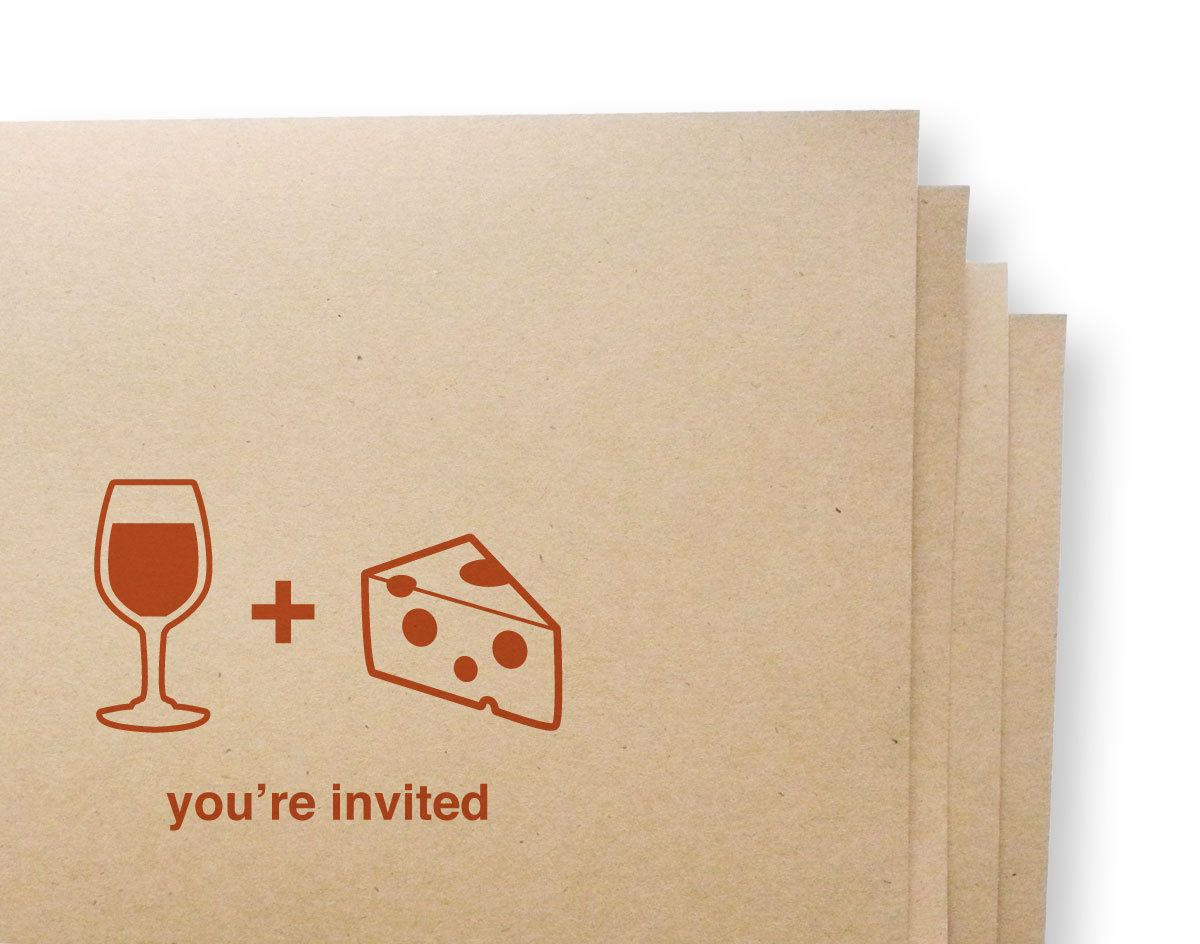 Cozy Beige Wine And Cheese Soiree Party Invitation Card with Very ...