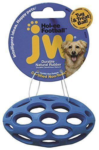 Jw Pet Toys Football Dog Toy Mini Durable Natural Rubber Dog