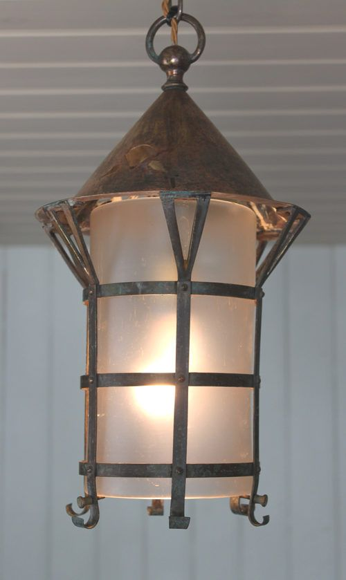 antiques atlas arts and crafts copper hall lantern