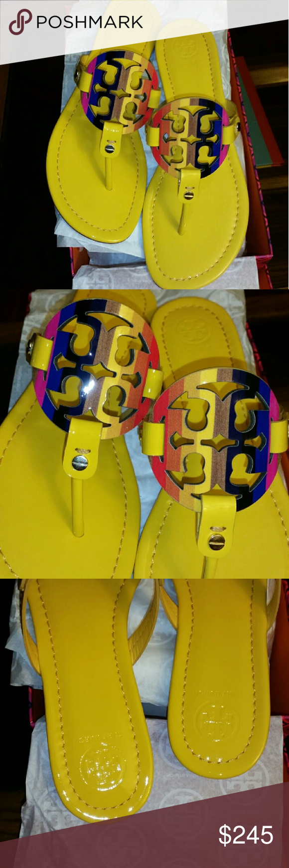 fe2987a04d96 NIB LIMITED EDITION TORY BURCH RAINBOW MILLERS 8M Less on M....and ...