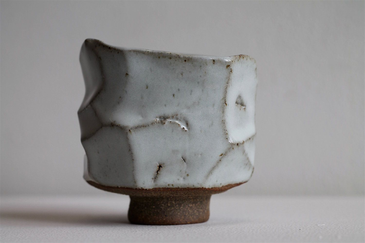 Small White Speckle Kurinuki Cup By Annette Lindenberg Pottery Japanese Pottery Pottery Studio