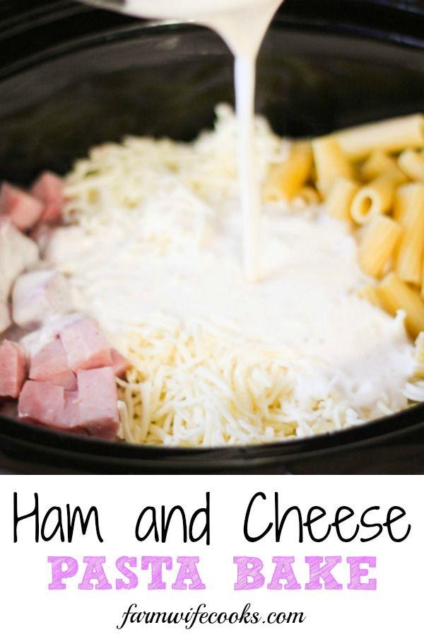 Ham and Cheese Pasta Bake