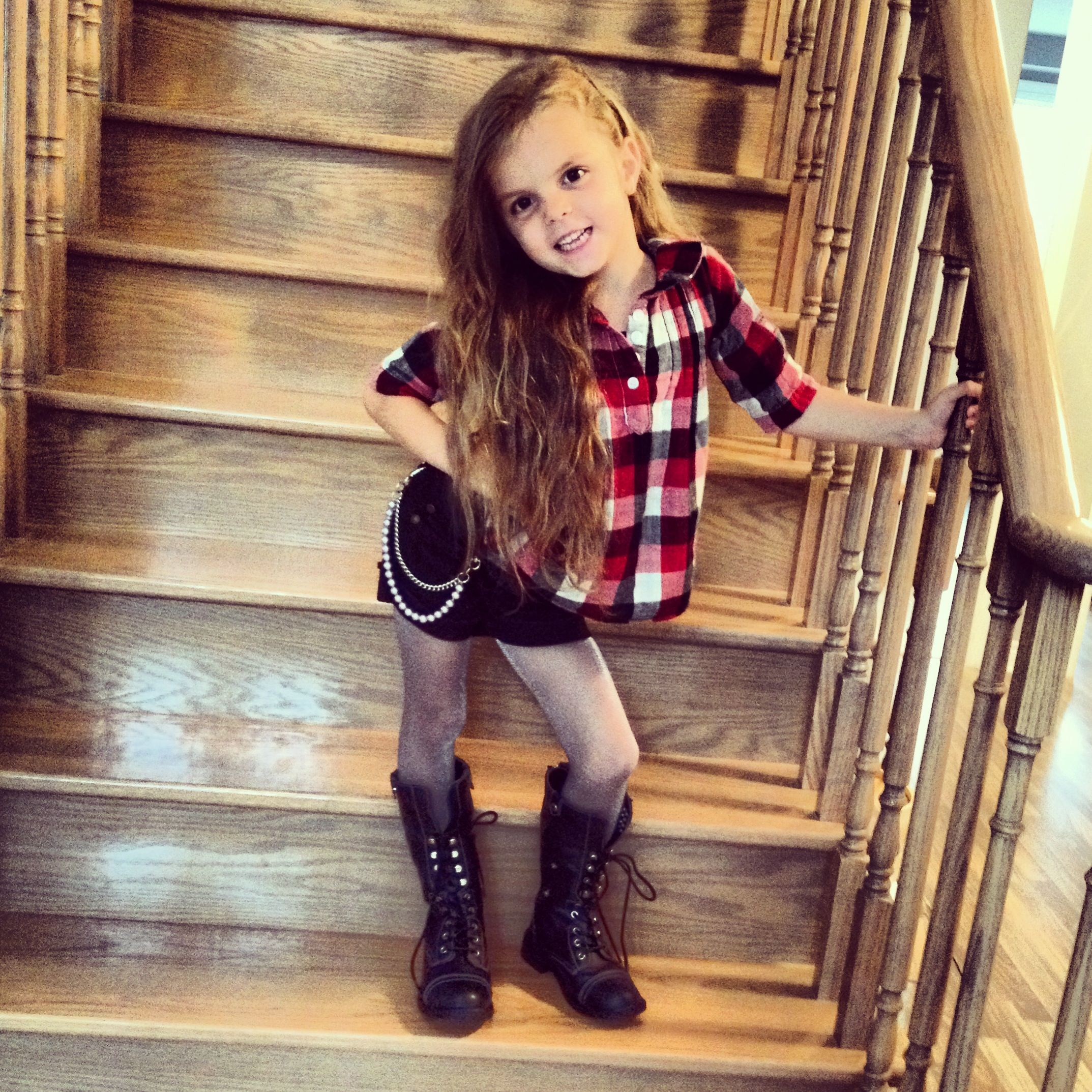 Kids Fashion - cute lumber shirt and kids combat boots ...
