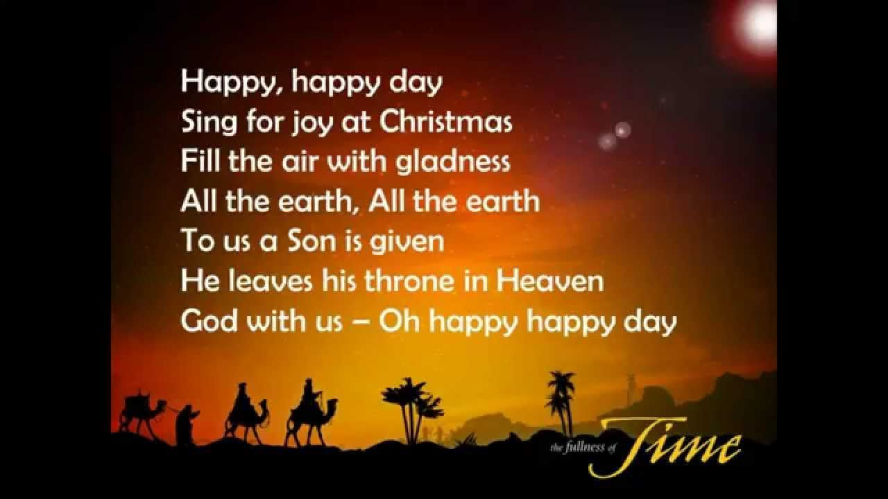Happy Happy Day song (with Lyrics) - YouTube | Christmas Songs for ...