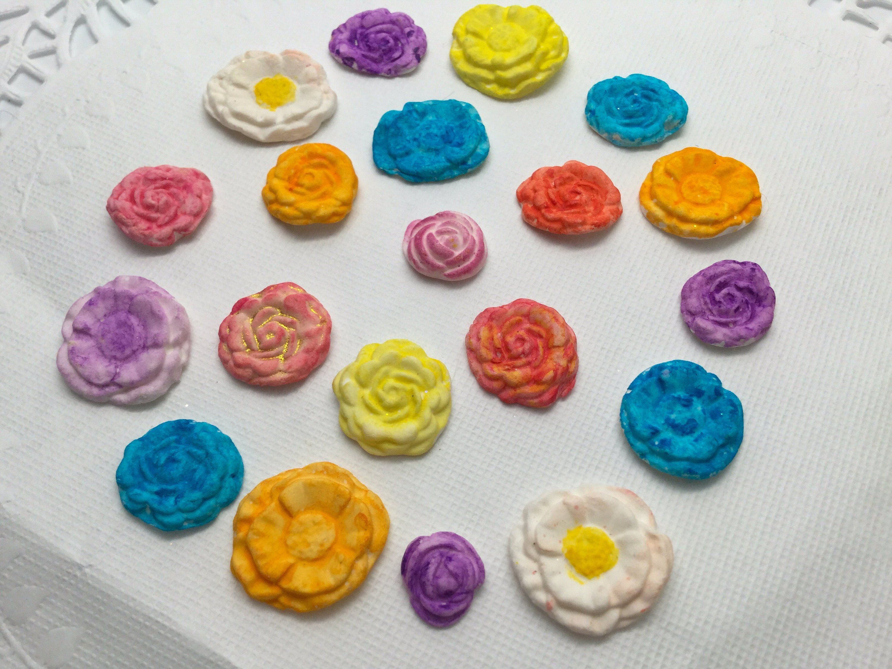 rolled roses  3 d foam flowers  white roses  extra