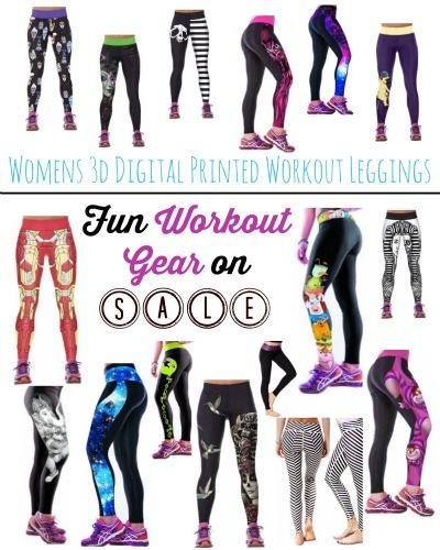 Workout Gear Sale ~ Fun Womens 3D Digital Printed Workout Leggings ... 99290184c
