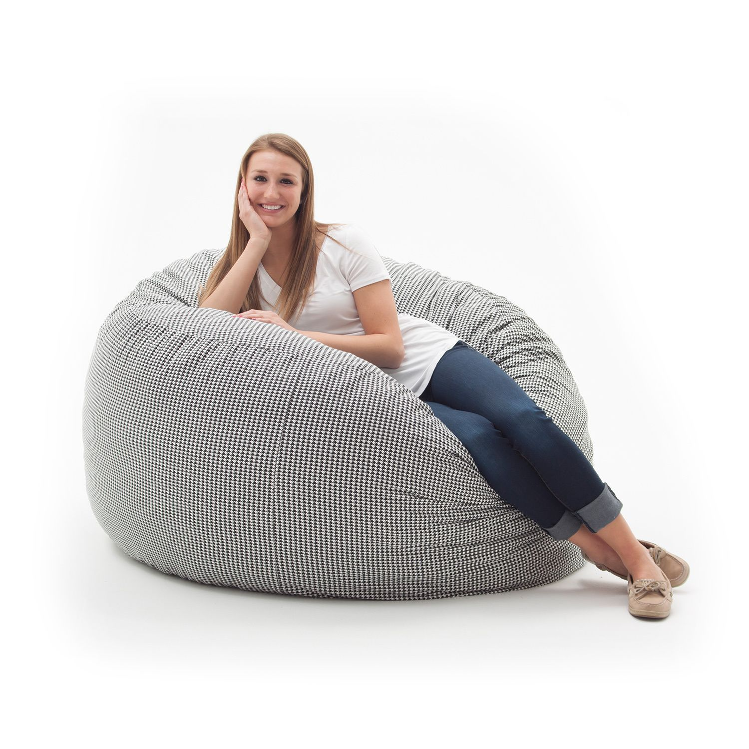 Spend Hours Relaxing In This Comfortable And Durable FufSack Memory Foam  Lounge Bean Bag Chair. The FufSack Bean Bag Chair Is Perfect To Use While  Watching ...