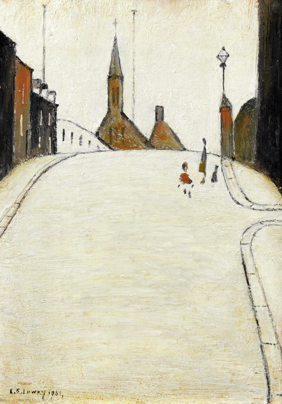 Framed L.S Lowry A Fight Giclee Canvas Print Paintings Poster Reproduction