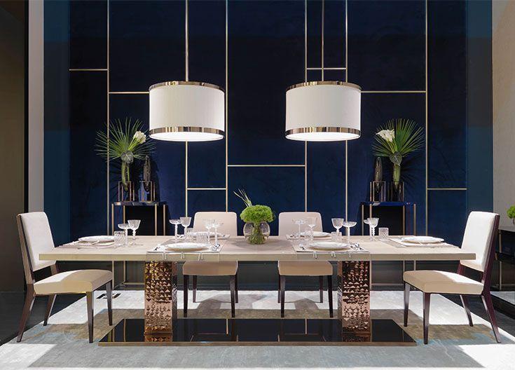 Fendi Casa Bernini Emerald table Stardust and Romance chairs