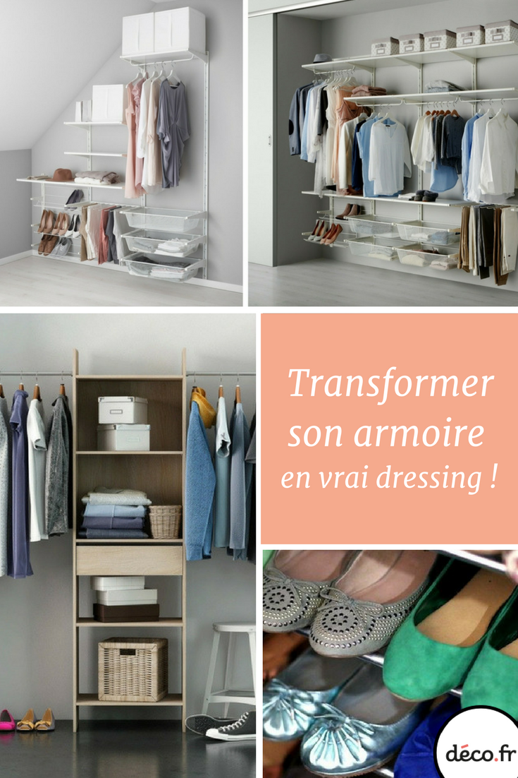 comment transformer votre armoire en v ritable dressing m6 dressing pinterest deco fr. Black Bedroom Furniture Sets. Home Design Ideas