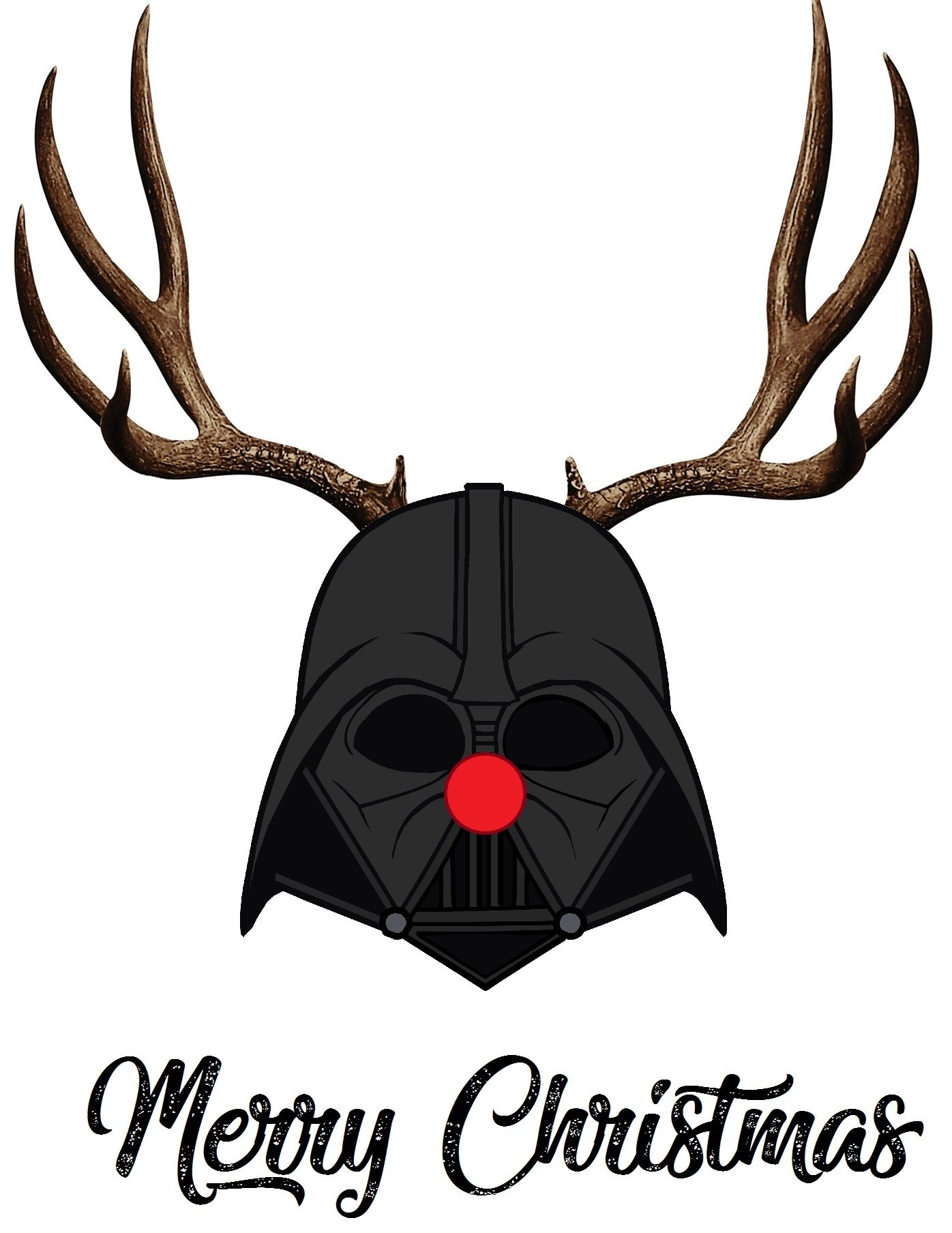 christmas starwars darthvader rudolph raindeer. Black Bedroom Furniture Sets. Home Design Ideas