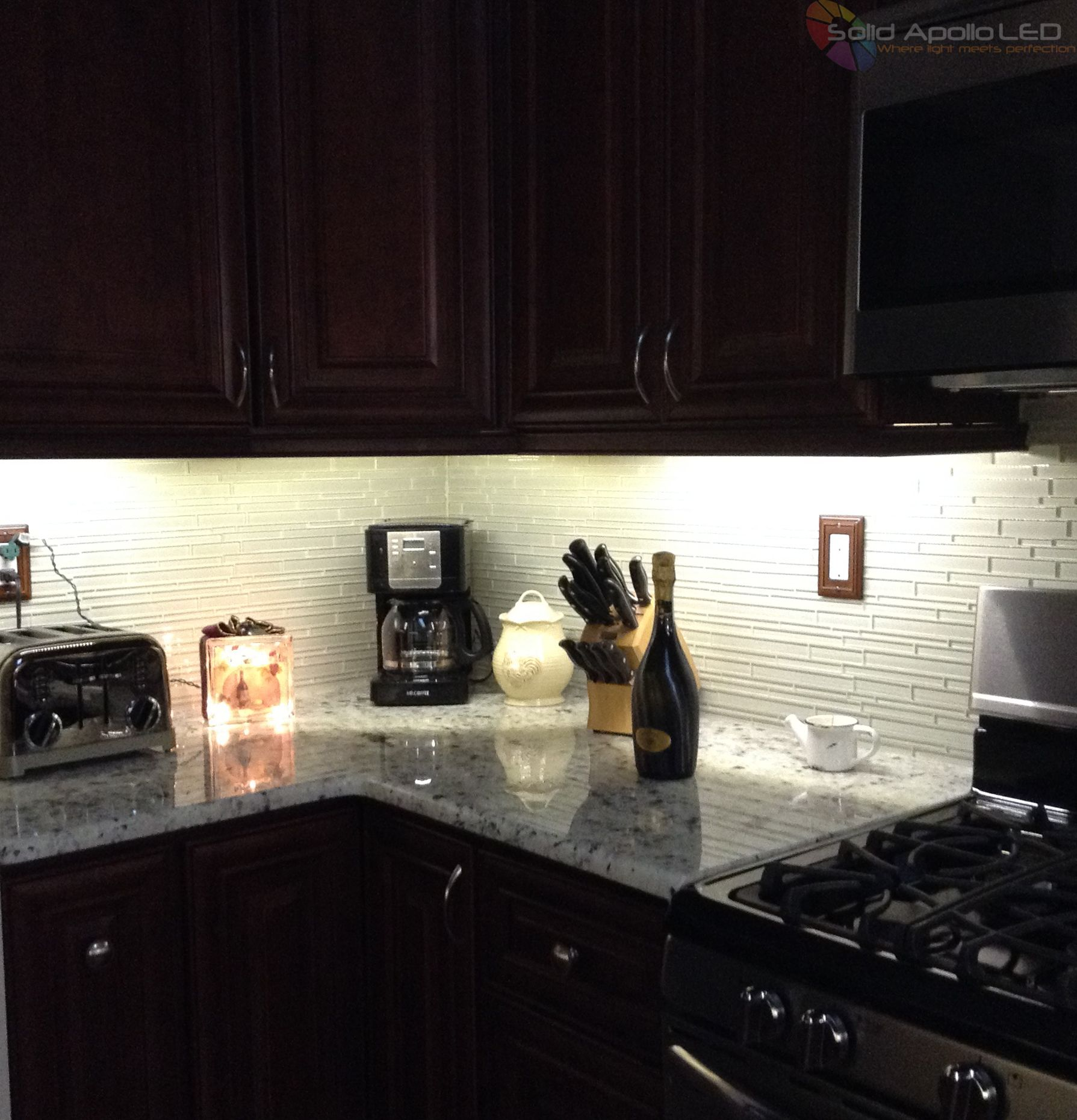 Kitchen Under Cabinet LED Lighting Projects Solid Apollo LED http