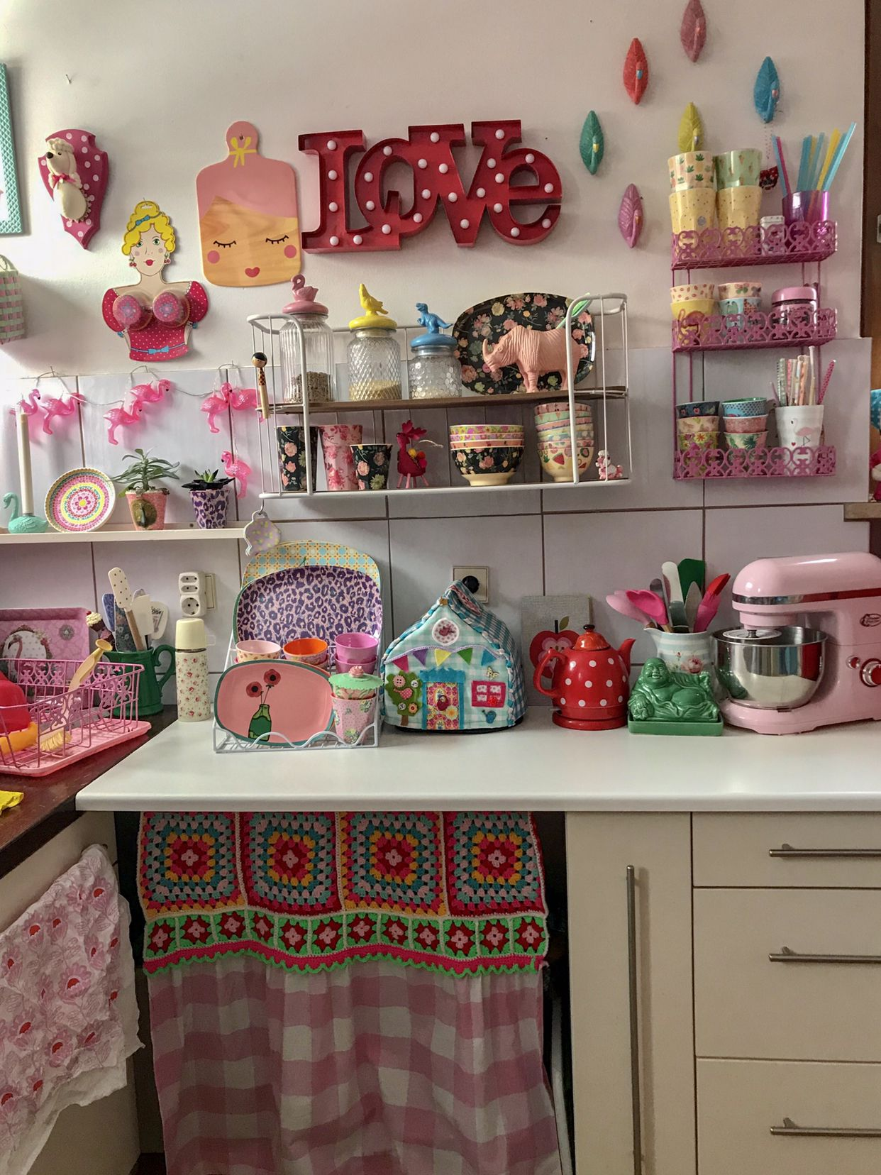 Meine bunte Küche , Vintage , colourful Kitchen Shabby