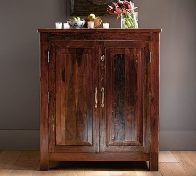 Marvelous Bowry Bar Cabinet, Rustic Reclaimed