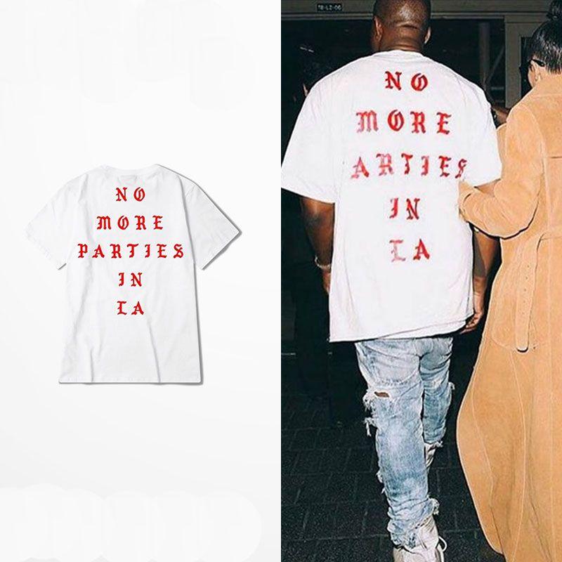 Aliexpress.com  Comprar Vida De Pablo Camisa Kanye West Yeezy Kanye Yeezus  camiseta de Los Hombres verano Ropa de Marca Hip Hop Camiseta NO MÁS  FIESTAS EN ... 5b3e5371176