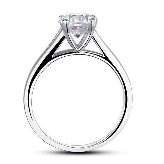 1 25 Carat Solitaire Simulated Diamond Engagement Ring
