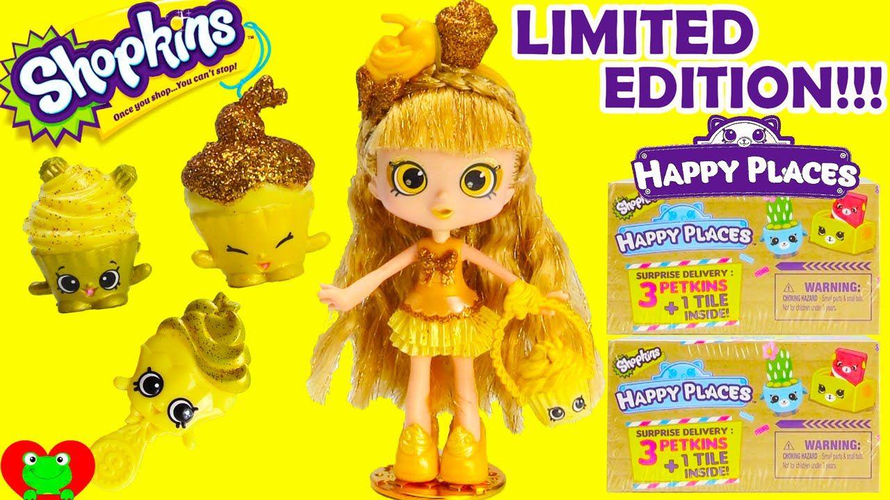 Shopkins Gold Jessicake Limited Edition And Shopkins Happy