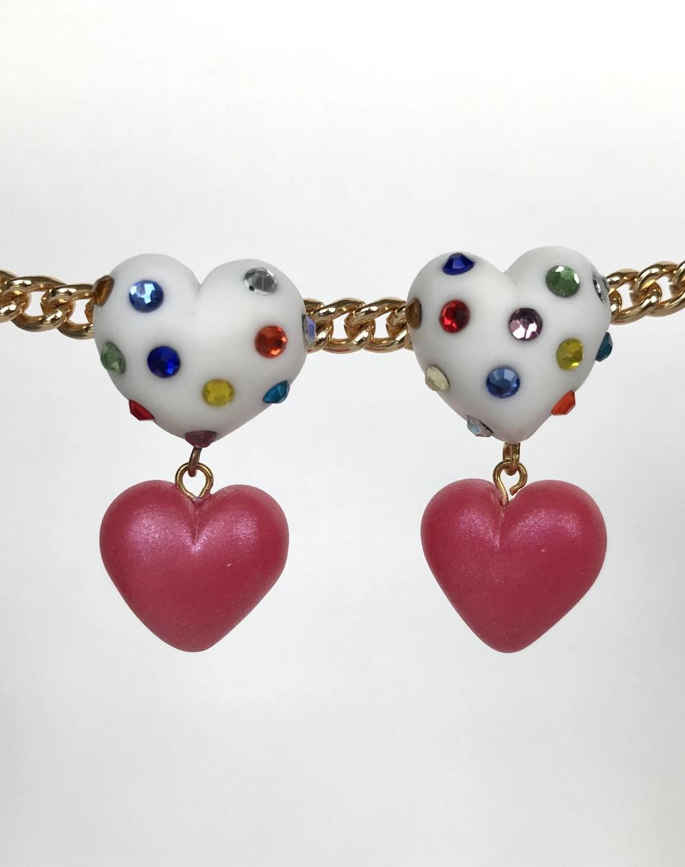 Heart Confetti Dangles