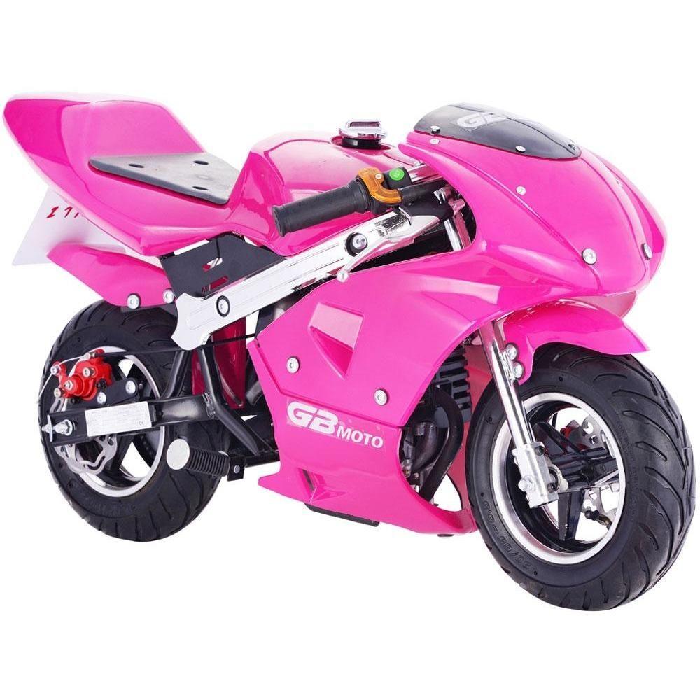 Mototec Gbmoto Gas Pocket Bike 40cc 4 Stroke Pink Mt Gp Gbmoto