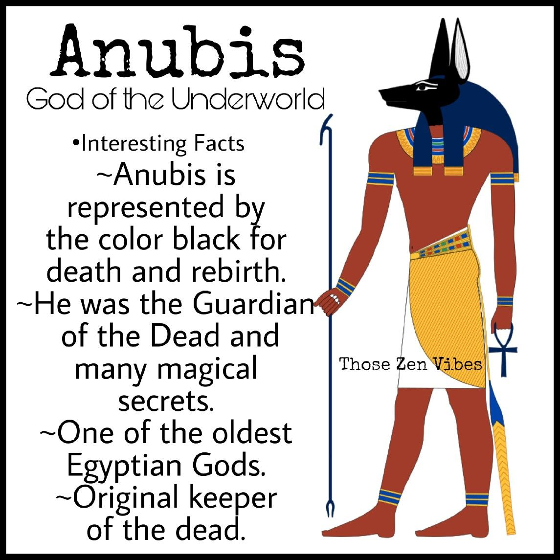 Anubis Egyptian God Of The Underworld And Guardian Of The