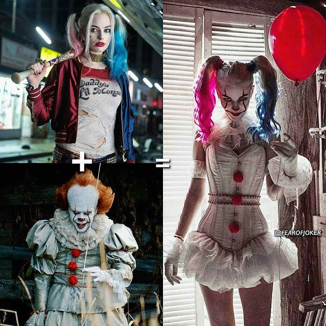 Halloween Joker And Harley Quinn Costumes.Image Result For Pennywise Harley Quinn Costume Refs Workshop Rs