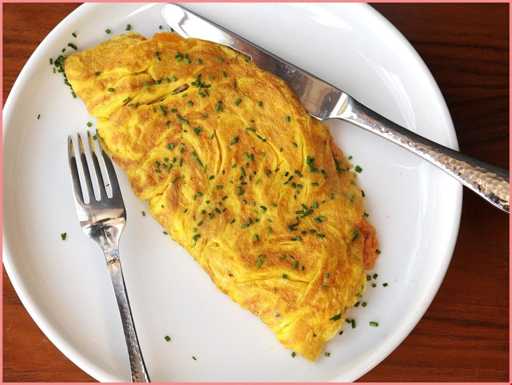 Dinerstyle ham and cheese omelette for two recipe