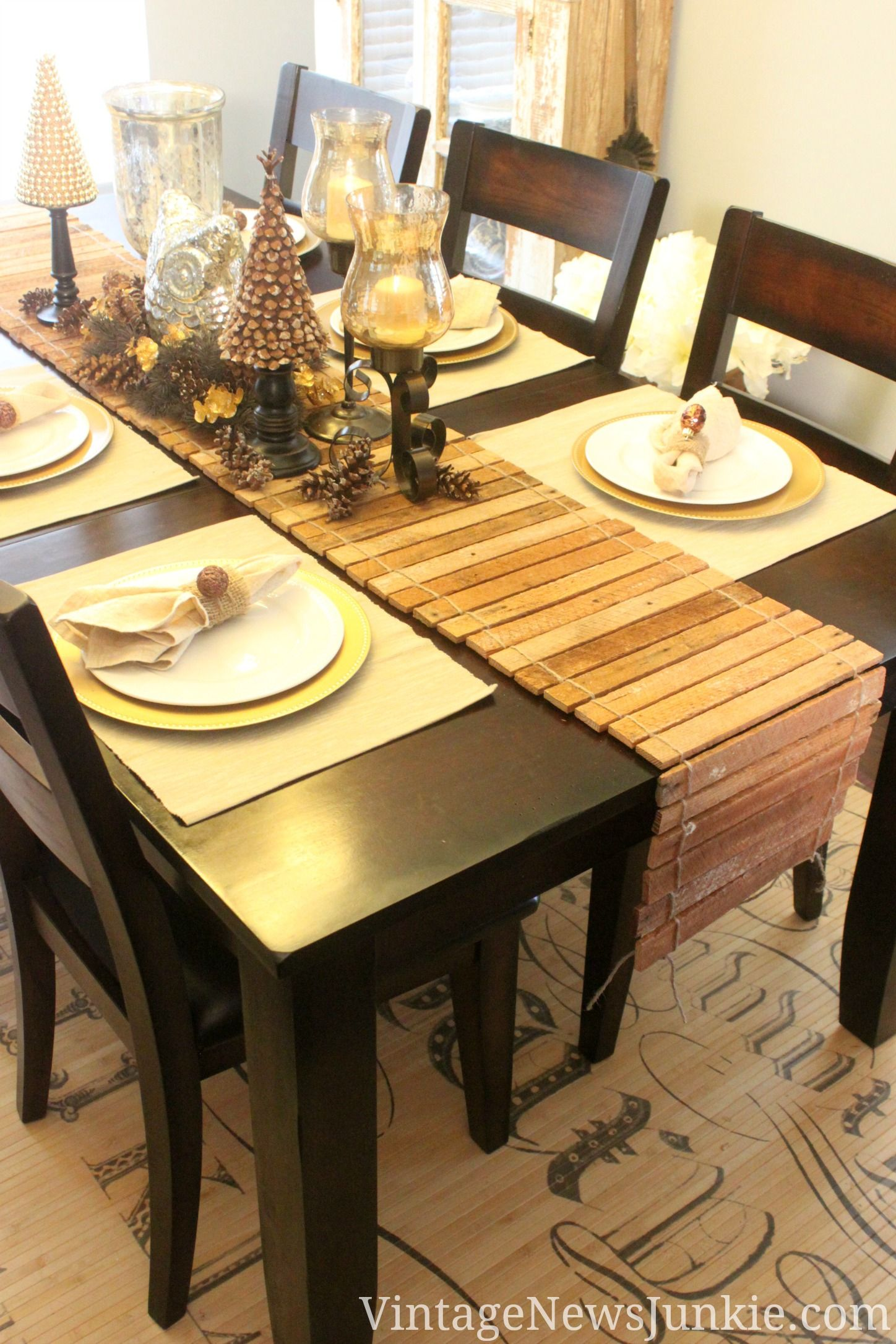 How To Make A Table Runner Out Of Scrap Wood Video Tutorial Dining Room Table Runner Diy Dining Room Dining Table Runners