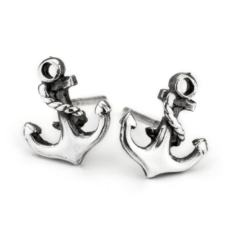 Beautiful Rose Gold Anchor Earrings,Nautical,Drop,Pierced,Rhinestone,Gem,Chic