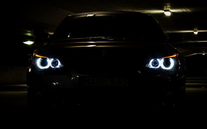 Desktop Wallpaper Bmw M5 Series E60 Car's Head Lights, Hd Image, Picture, Background, Y9gbq4