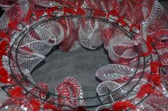Deco Mesh Christmas Wreath Tutorial #decomeshwreaths