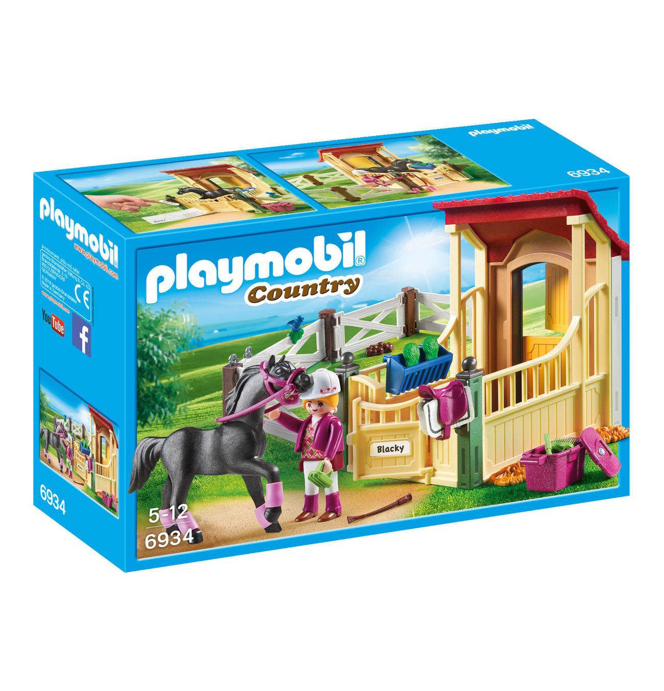 Playmobil 6932 Country Horse-Drawn Wagon Figure and Accessories Playset