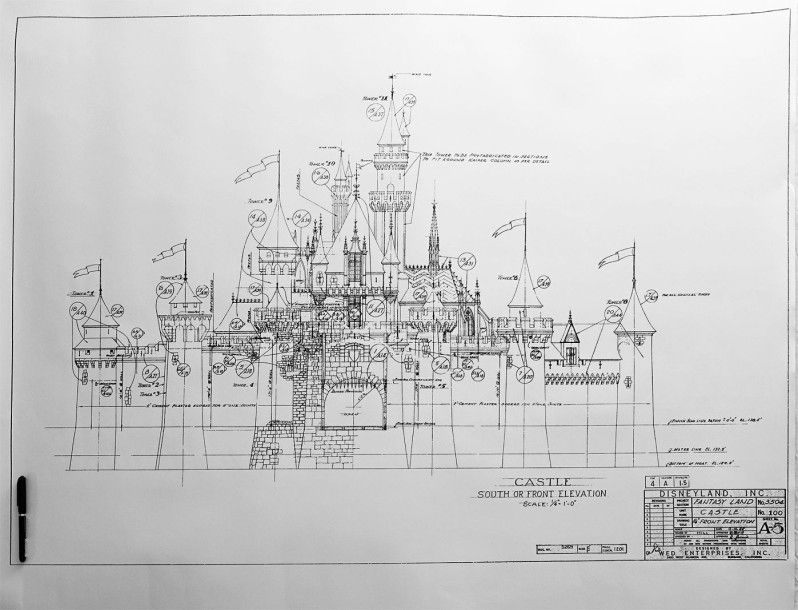 Disneyland Sleeping Beauty Castle Blueprint | Disney ...