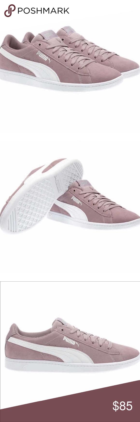 PUMA® Ladies' Vikky Suede Shoe Pink