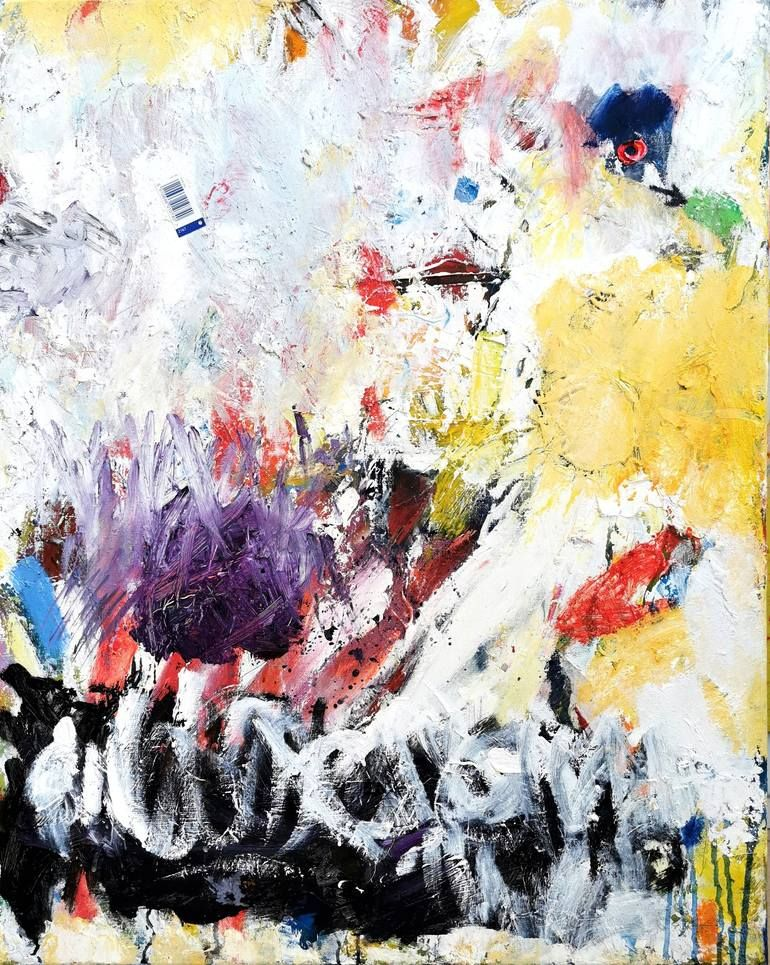 Original Art Oil/Acrylic/Paper Painting, measuring: 65W x 81H x 2D cm, by: Philip Alsican (France). Styles: Gesture, Expressionism, Abstract, Actionpainting, Abstract Expressionism. Subject: Abstract. Keywords: Yellow, Fineart, Gesture, Allover, Black, Belgianartist, White, Brussels, Actionpainting, Collage, Poetry, Oil. This Oil/Acrylic/Paper Painting is one of a kind and once sold will no longer be available to purchase. Buy art at Saatchi Art.