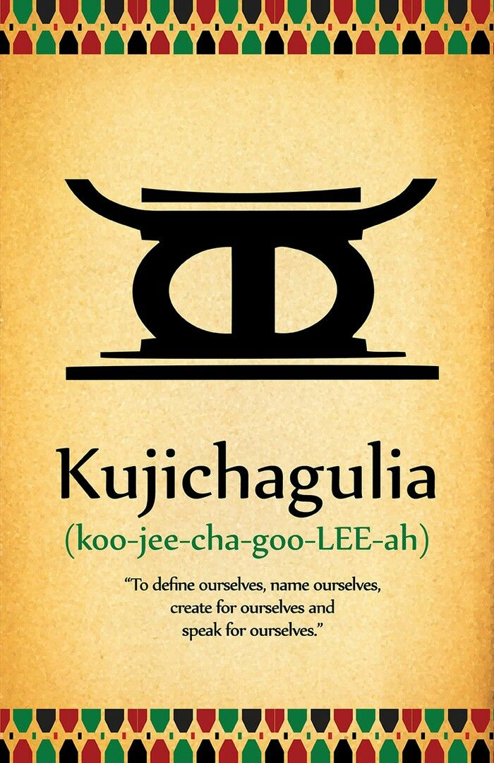 Kwanzaa Day 2 Principle Kujichagulia African Words New Words Cool Words