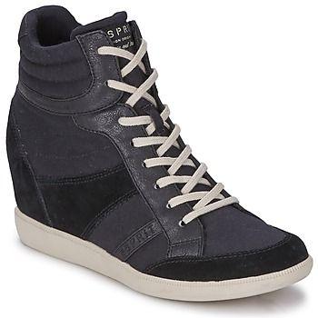 Blomma Esprit Wedge Hoge Trendy SneakerszwartVoor Py80mOvNwn