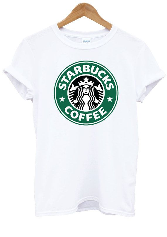 9eb60d1b75b7b6 Starbucks Coffee Hipster Tumblr White T-Shirt Top Shirt